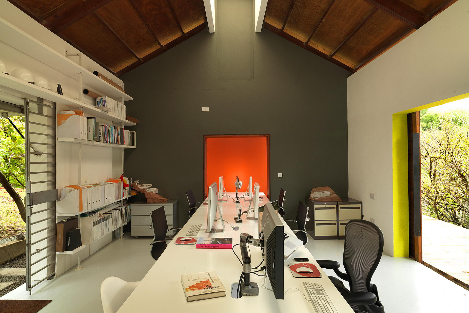 Modren Architecture Office Studio For And Coworking Space As Built