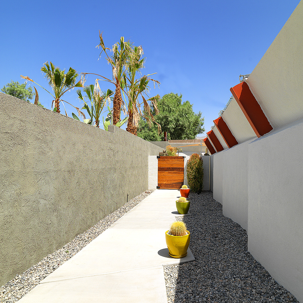 small private pool, shading small poolpalm springs, lautner hotel, contemporary desert architecture