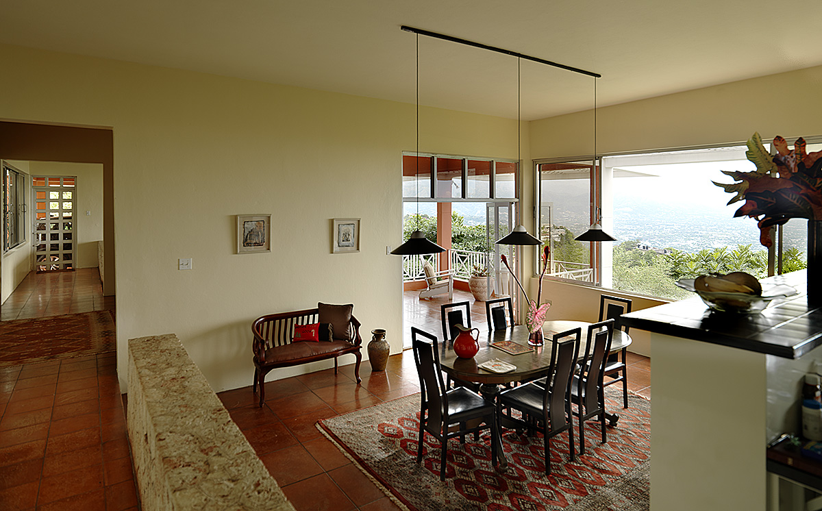 contemporary-caribbean-dining-room-overlooking-kingston