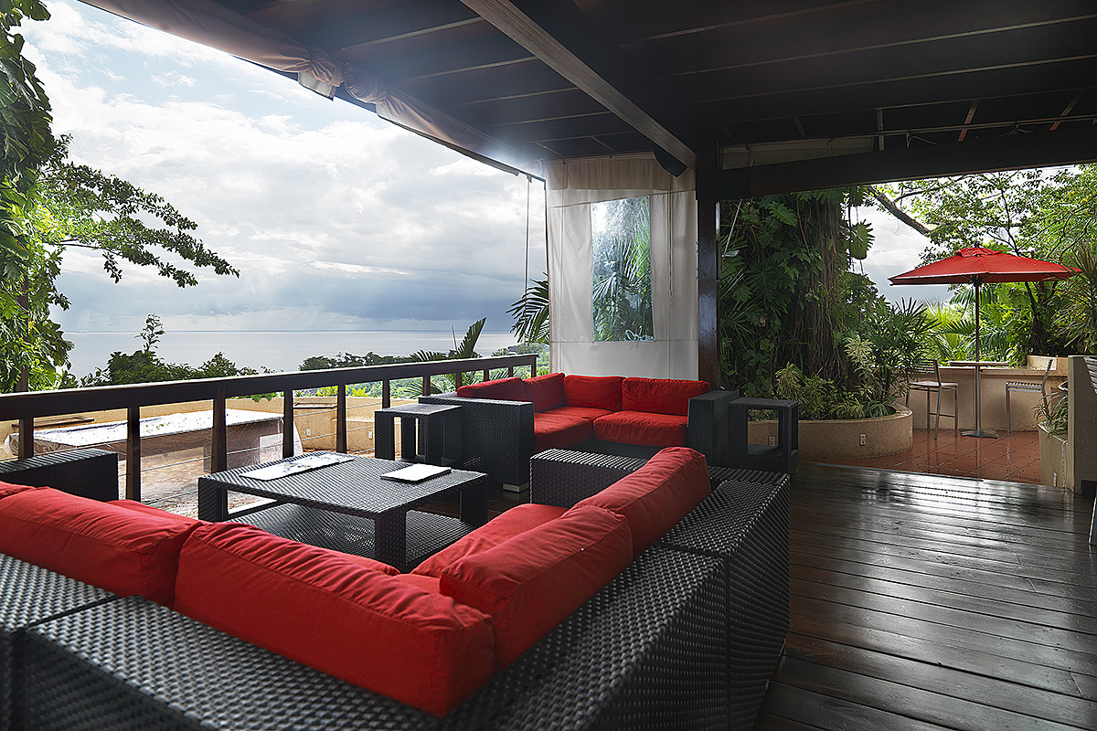 The Bushbar lounge with its stunning views over the Caribbean