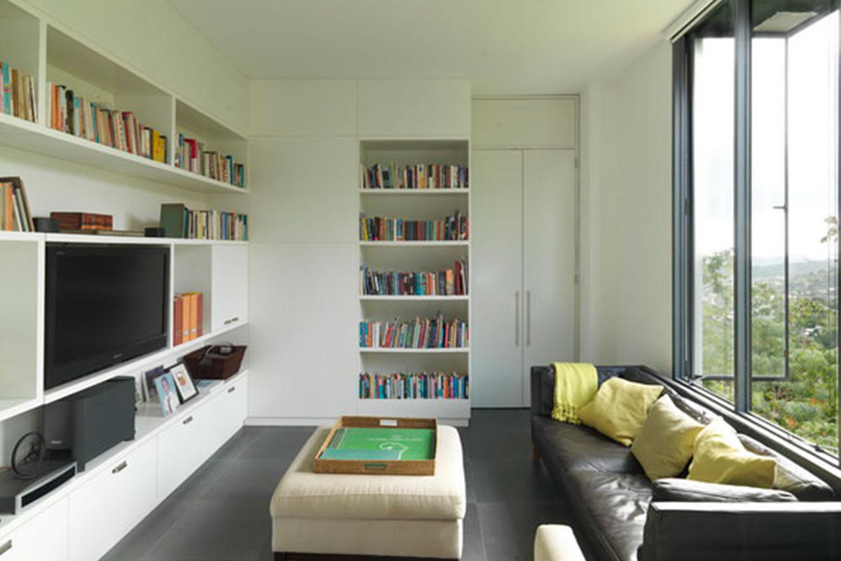 2-built-in-bookcases-Raymond_Residence_modern-living-room